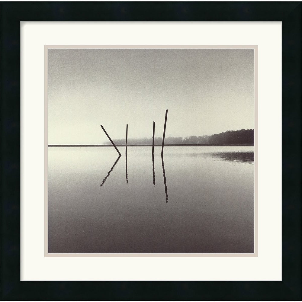 "20x20"" Michael Kenna Poles Salt Ponds Moss Landing California USA 1989 Framed Print"