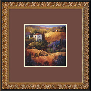 "18""H x 18""W Nancy OToole Evening Glow Tuscany Framed Print"