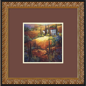 "18""H x 18""W Nancy OToole Morning Light Tuscany Framed Print"