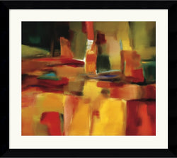 "31x28"" Nancy Ortenstone Harmonious Space Framed Print"