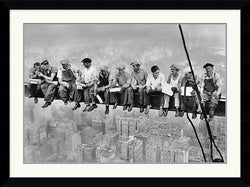Amanti Art New York Lunch Atop a Skyscraper Framed Print AA84534
