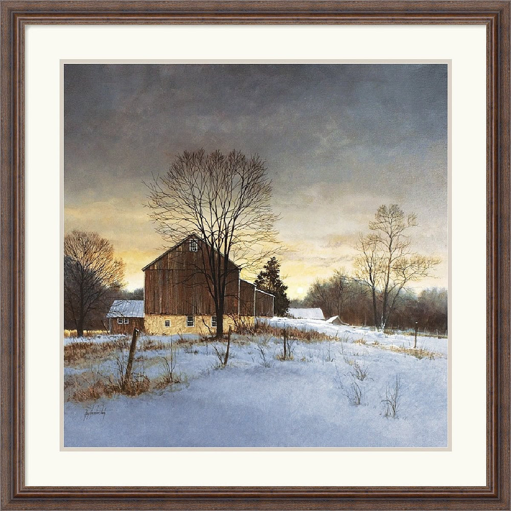 "32""H x 32""W Ray Hendershot Breaking Light Framed Print"