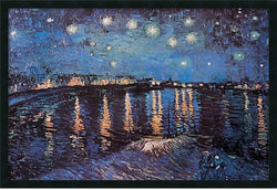 Amanti Art Starlight Over the Rhone Wall Art Satin Black AA577251