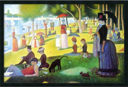 "25x37"" Sunday Afternoon on the Island of La Grande Jatte Framed Art Gel Coated"