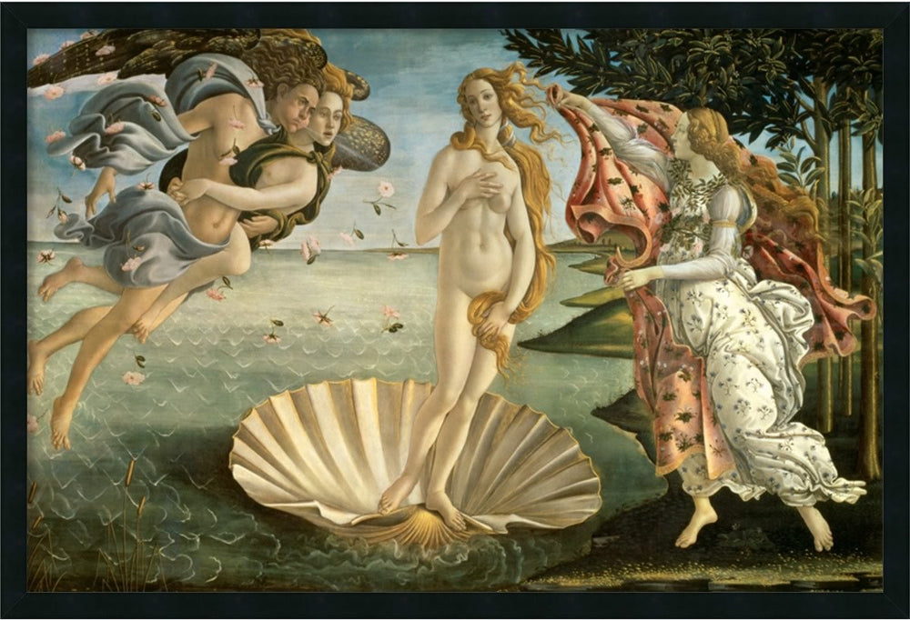 "25x37"" The Birth of Venus Framed Art Gel Coated"
