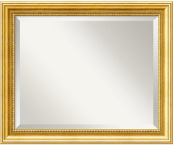 Amanti Art Townhouse Gold Mirror Medium Framed Mirror AA01366