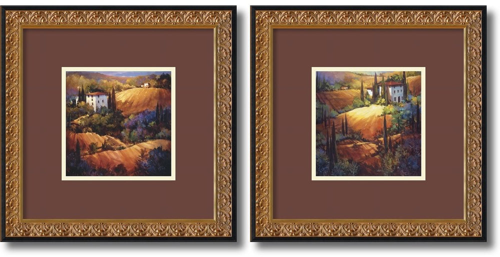 "18""H x 18""W Tuscany Framed Art Black"