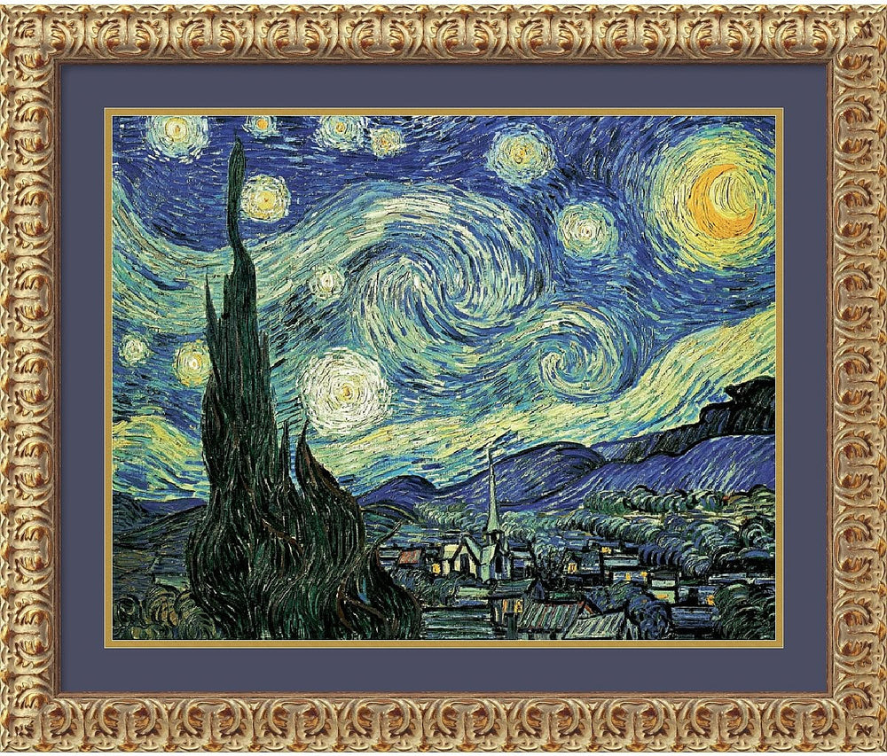 "32x26"" Vincent Van Gogh The Starry Night Framed Print"