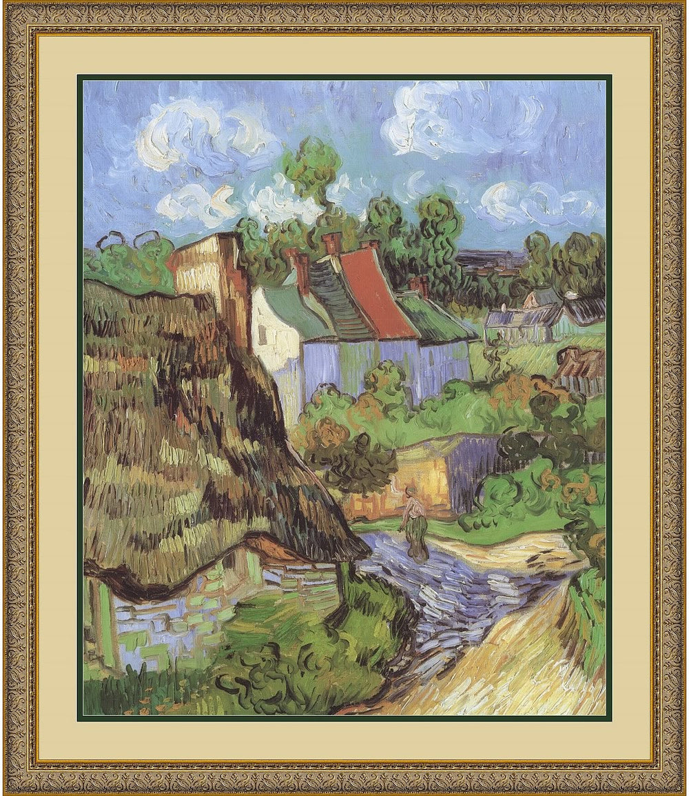 "30""H x 26""W Vincent Van Gogh Houses at Auvers 1890 Framed Print"