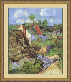 Amanti Art Vincent Van Gogh Houses at Auvers 1890 Framed Print AA01400