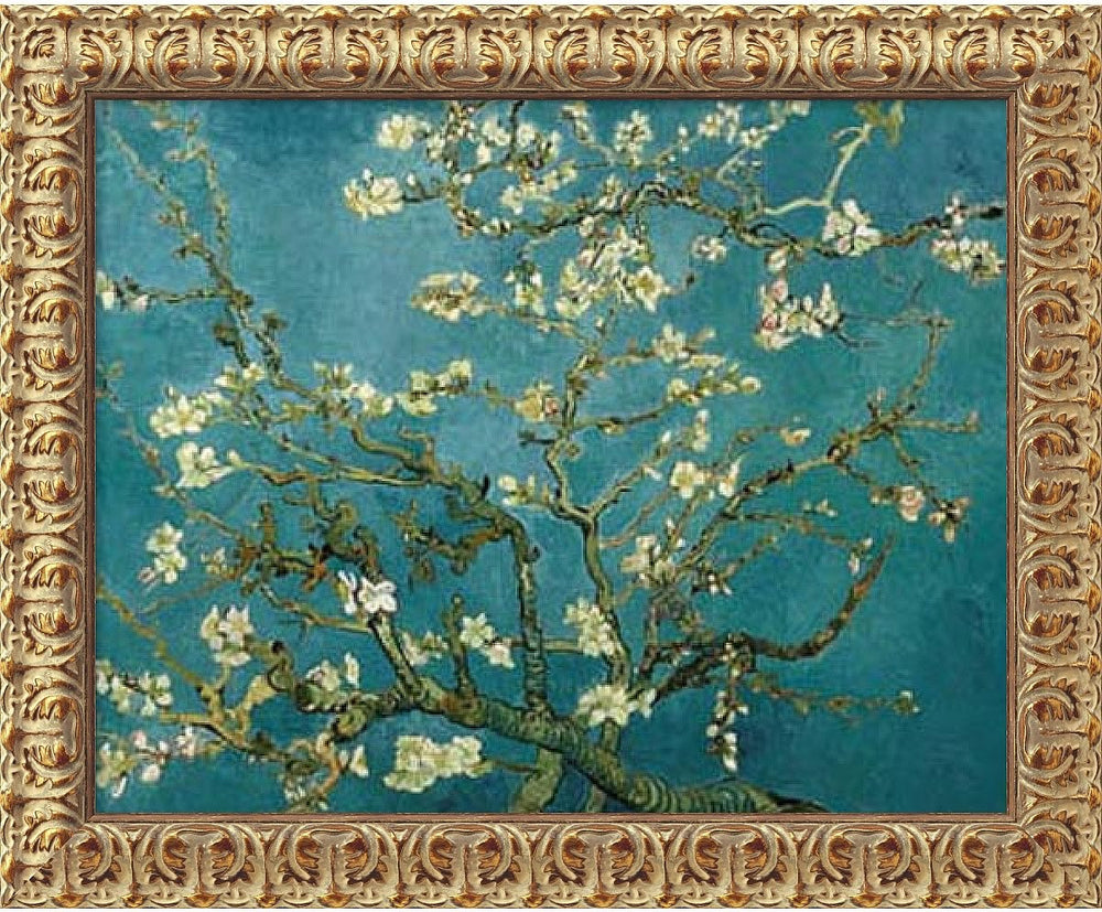 "20""H x 24""W Vincent Van Gogh Almond Blossom 1890 Framed Art Canvas Canvas"