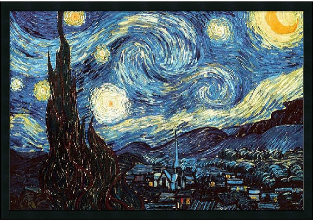 "37x25"" Vincent Van Gogh The Starry Night Framed Print"