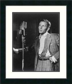 "23x27"" William P. Gottlieb Golden Age of Jazz Frank Sinatra Framed Print"