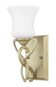 Brooke 1-Light Bath Sconce in Silver Leaf