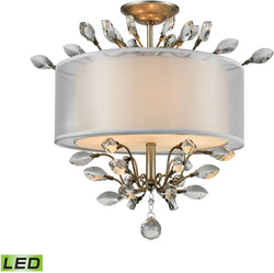 Asbury 3-Light LED LED Semi Flush Aged Silver