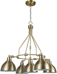Timarron 5-Light Down Chandelier Legacy Brass