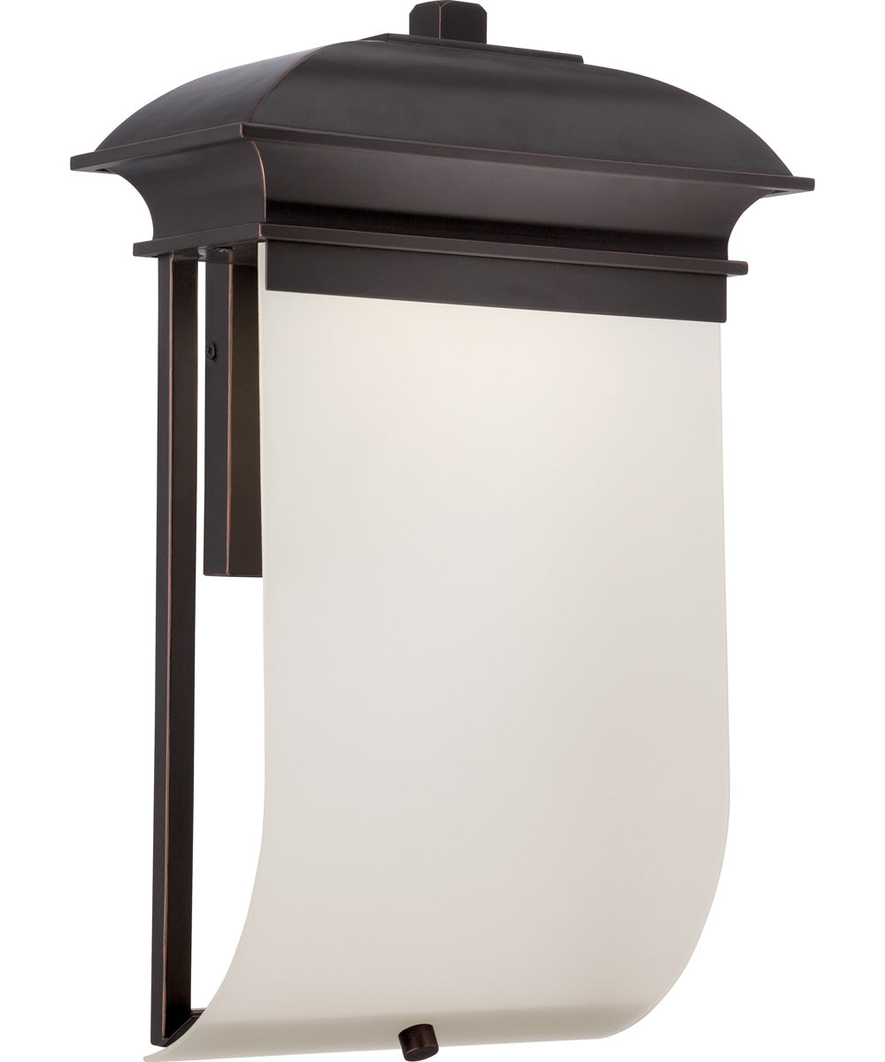 "17""H Foster 1-Light Outdoor Mahogany Bronze"