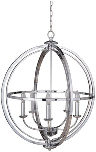0-008595>Berkeley 5-Light Foyer Light Chrome
