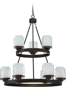 0-006835>Kenswick 9-Light Chandelier Peruvian Bronze
