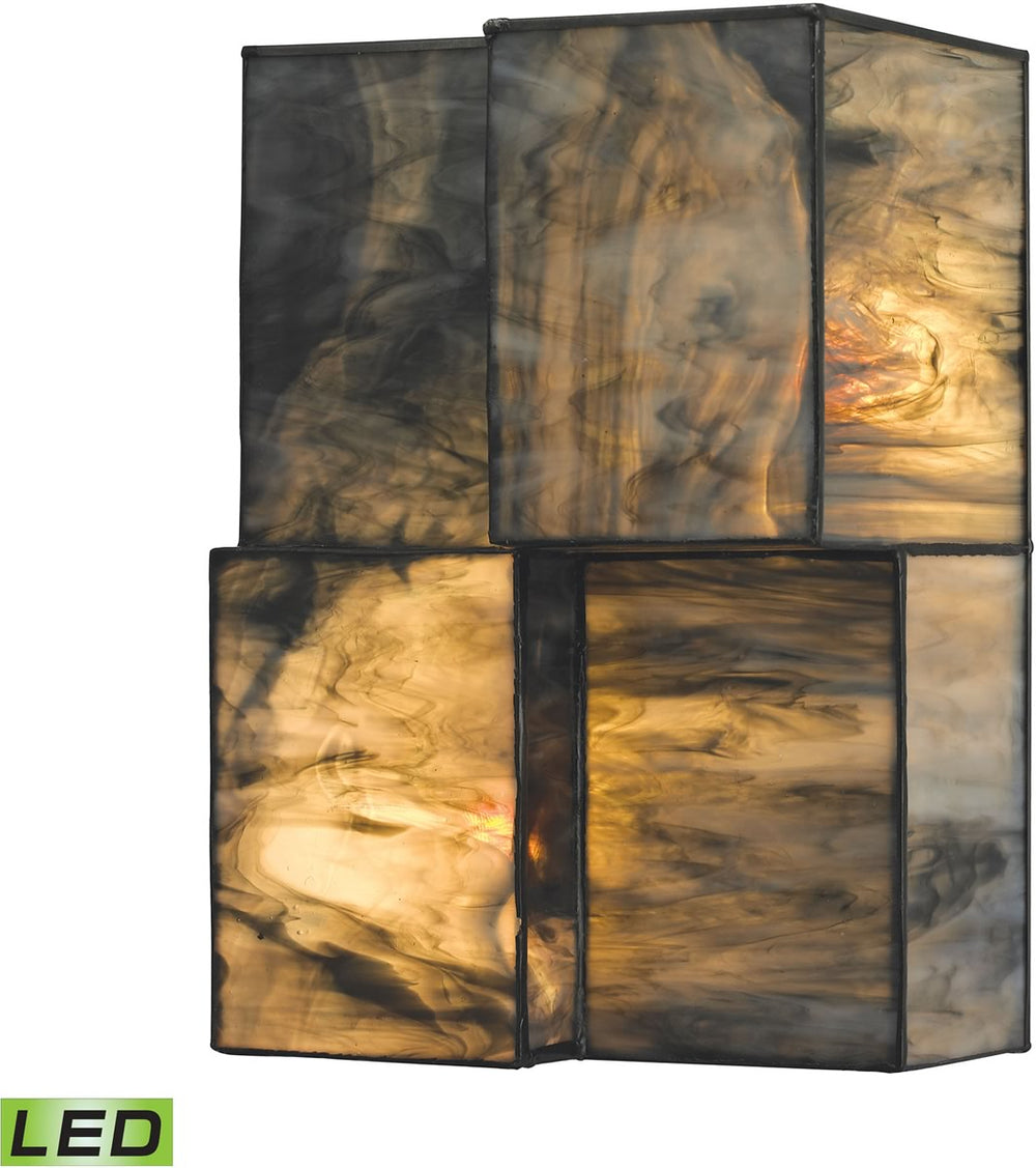 "7""W Cubist 2-Light LED Wall Sconce Brushed Nickel"
