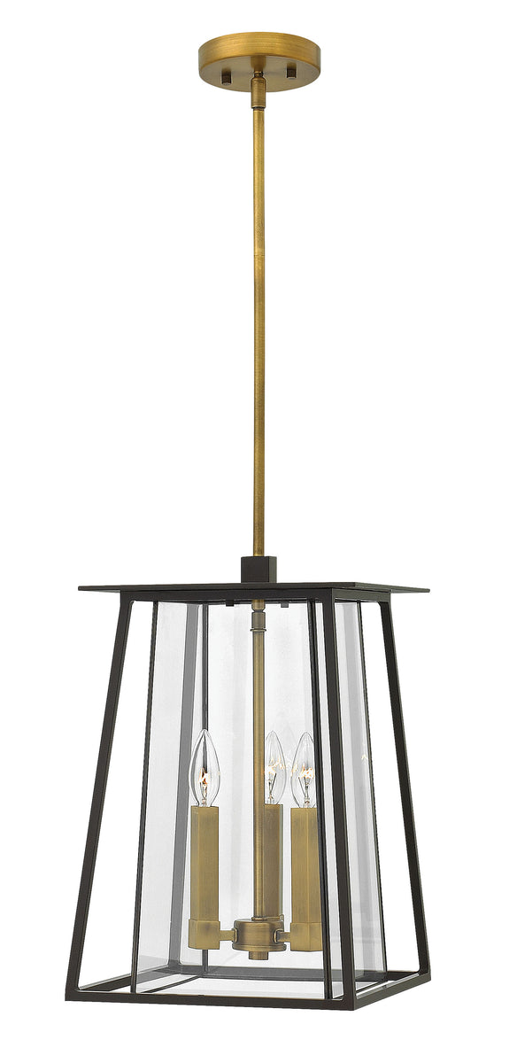 "12""W Walker 3-Light Outdoor Hanging Light in Buckeye Bronze"
