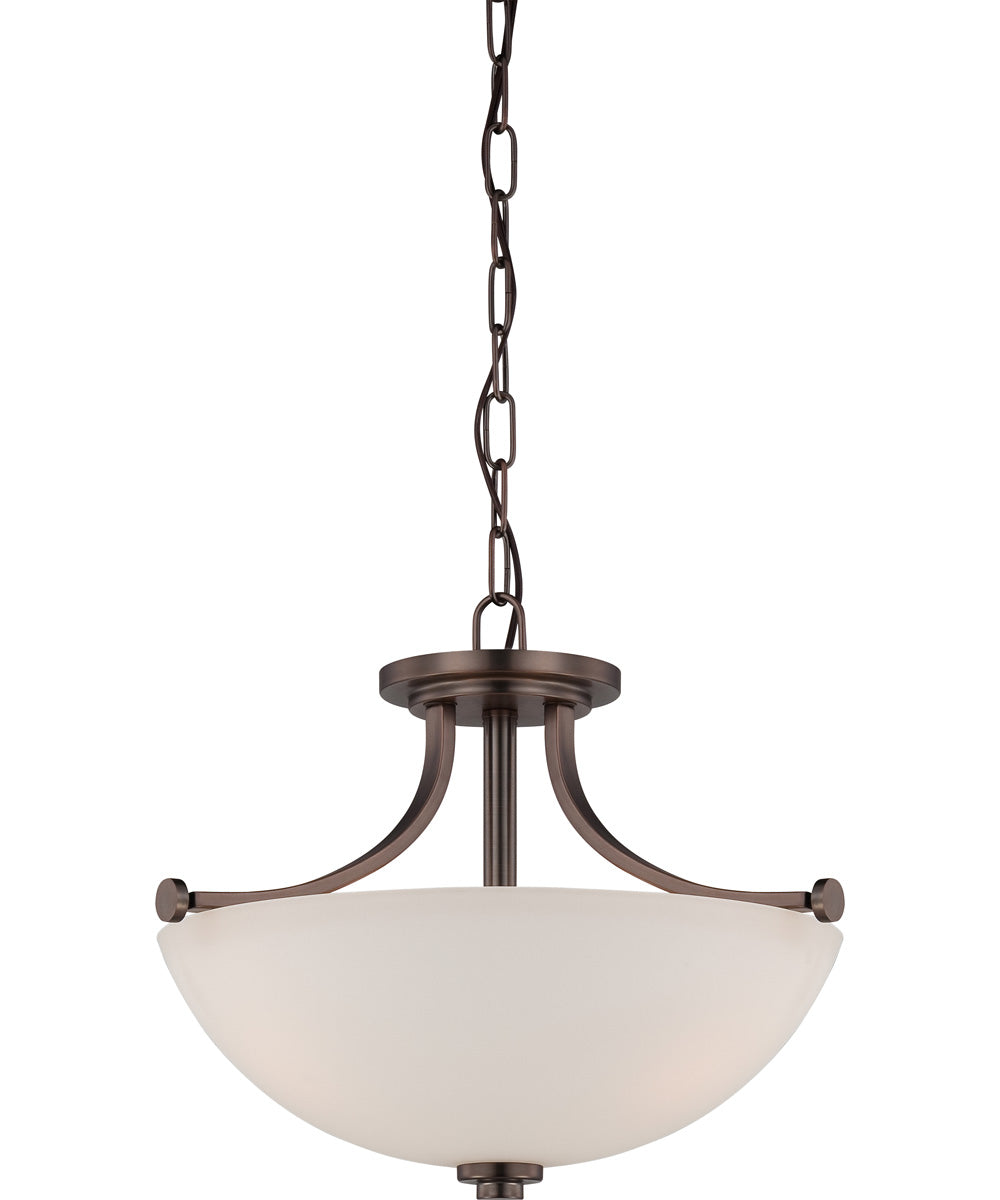 Bentley 3-Light Close-to-Ceiling Hazel Bronze / Frosted