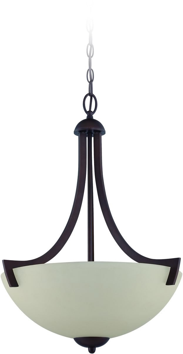 "20""W Almeda 3-Light Pendant Light Old Bronze"