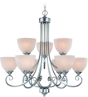 "31""W Raleigh 9-Light Chandelier Satin Nickel"