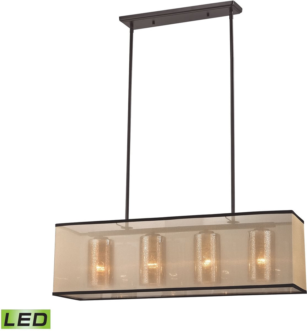 "34""W Diffusion 4-Light LED Chandelier Oil Rubbed Bronze"