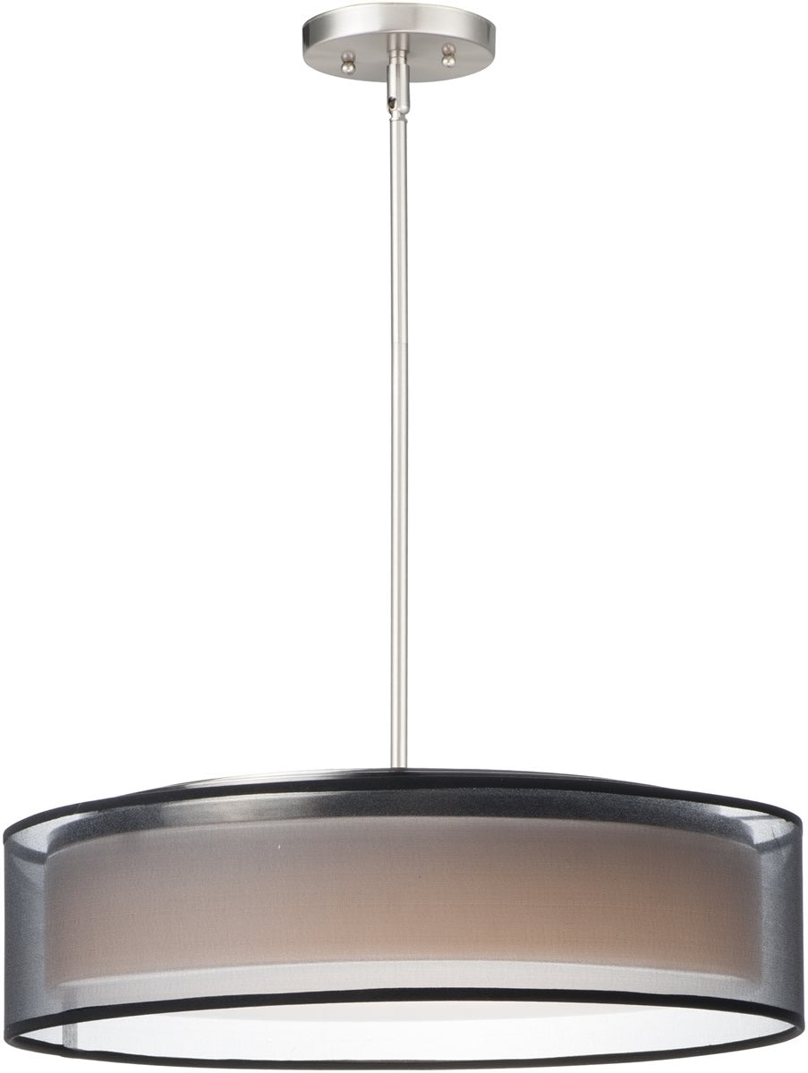 "20""W Prime 20 inchW LED Pendant Satin Nickel"