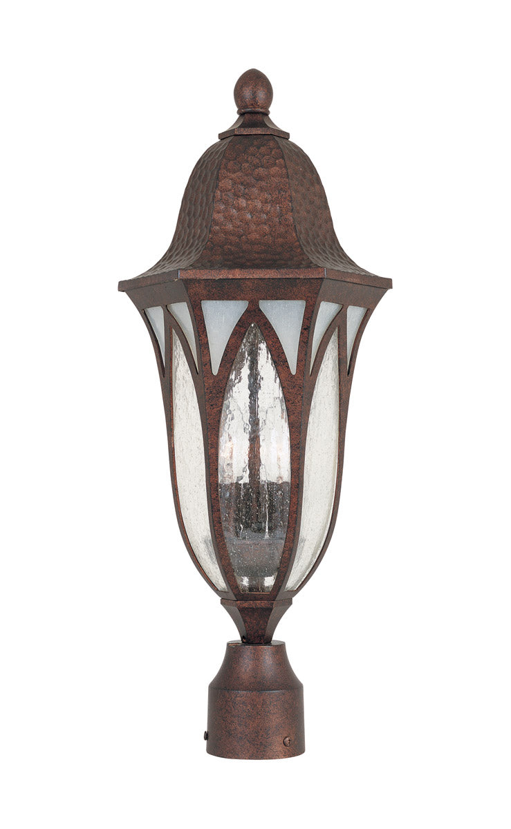 "23""h Berkshire Outdoor Post Lantern Burnished Antique Copper"