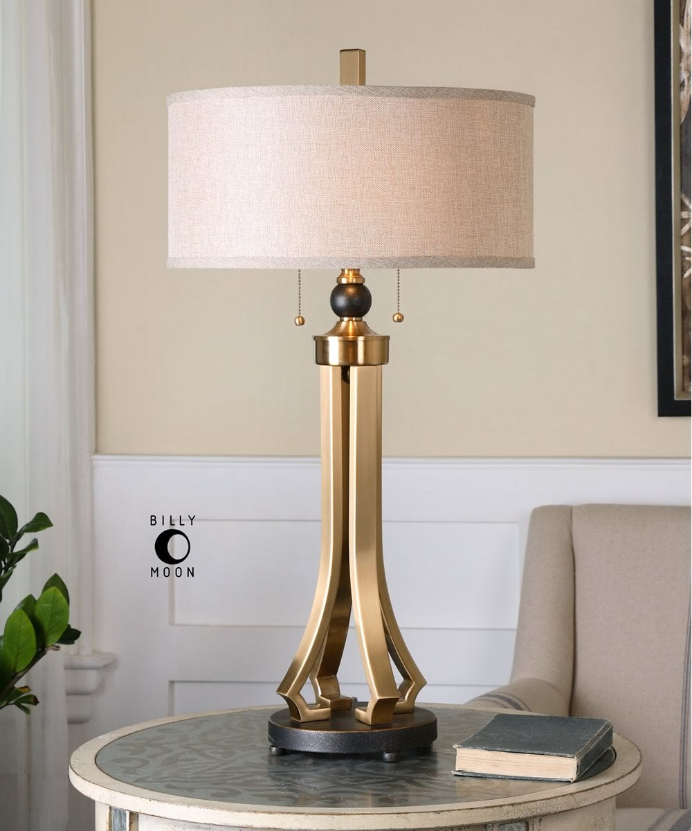 "33""H Selvino Brushed Brass Table Lamp"