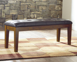 Ralene Large UPH Dining Room Bench Medium Brown