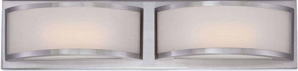 "21""W Mercer 2-Light Vanity & Wall Brushed Nickel"