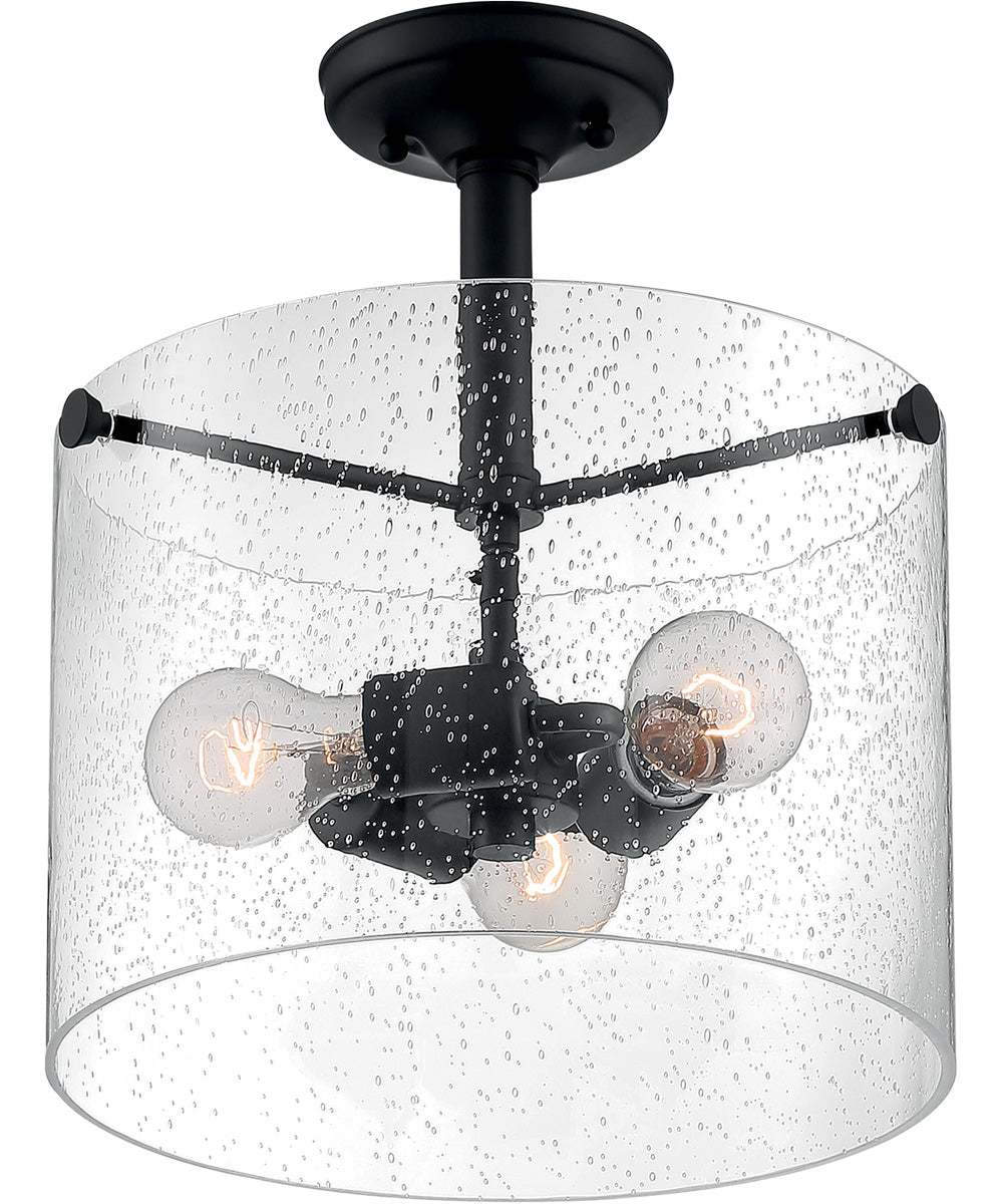 Bransel 3-Light Close-to-Ceiling Matte Black