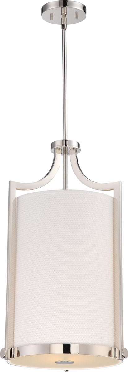 "14""W Meadow 3-Light Pendant Polished Nickel"
