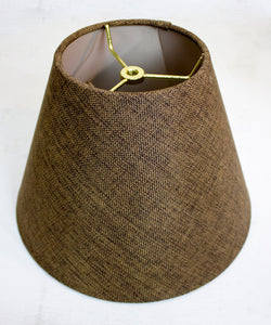 "12""W x 9""H Hard Back Empire Lamp Shade - Chocolate Burlap"