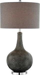 0-002145>Dylan 1-light Table Lamp Metallic Grey Glass