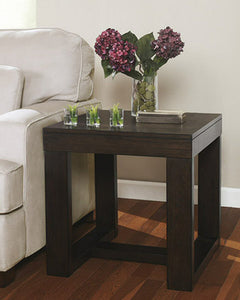 Watson Square End Table Dark Brown