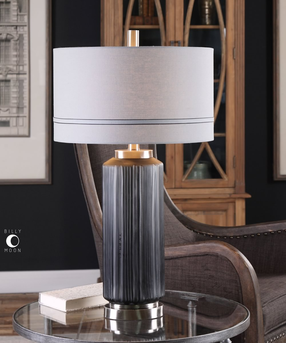 "31""H Akila Charcoal Glass Table Lamp"