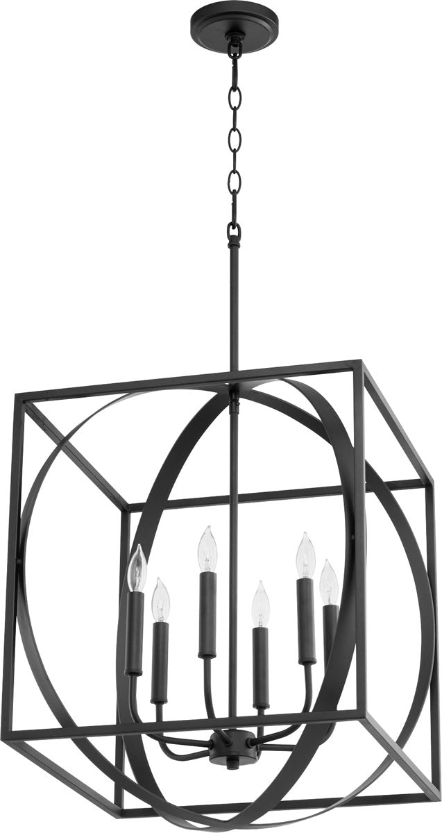 "18""W 6-light Pendant Noir"