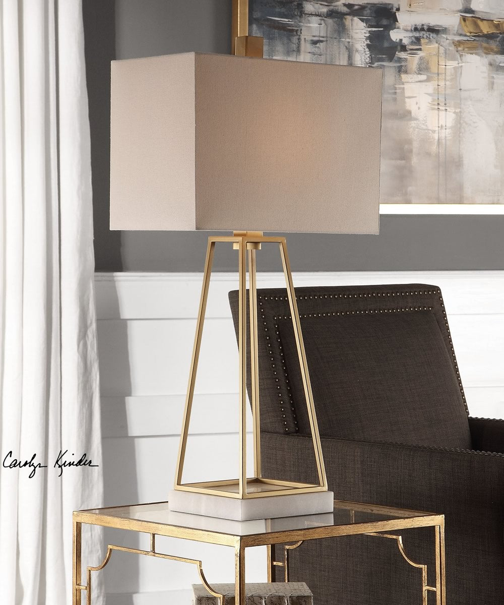 "35""H Mackean Metallic Gold Lamp"