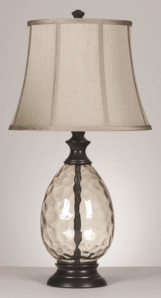 "29""H Olivia 3-Way Glass Table Lamps (Set of 2) Bronze"