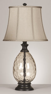 Olivia 3-Way Glass Table Lamps (Set of 2) Bronze