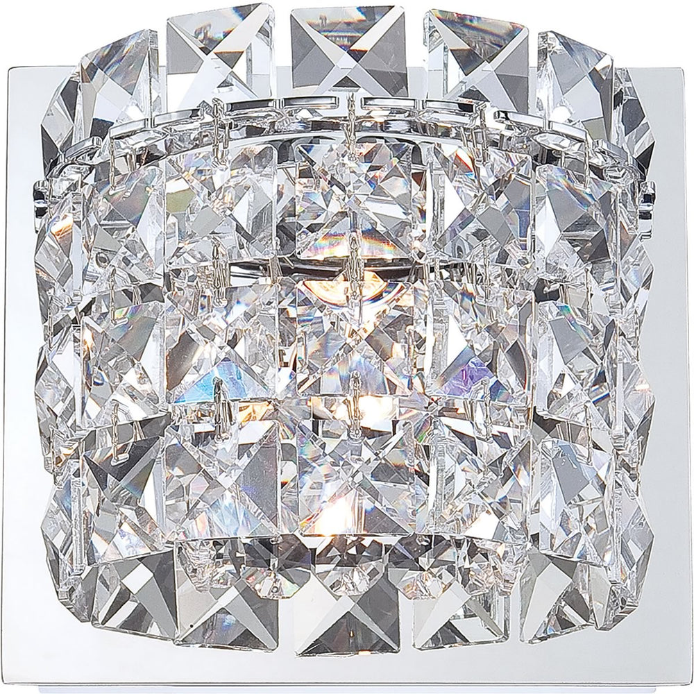 "5""W Rondell 1-Light Vanity Chrome/Clear Crystal Glass"