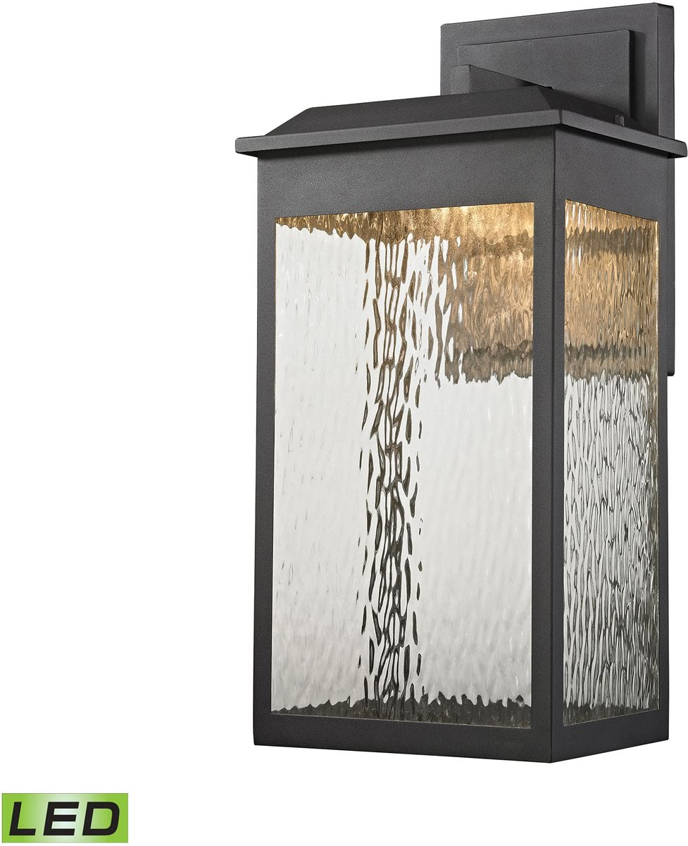 "22""H Newcastle LED Outdoor Wall Sconce Matte Black"