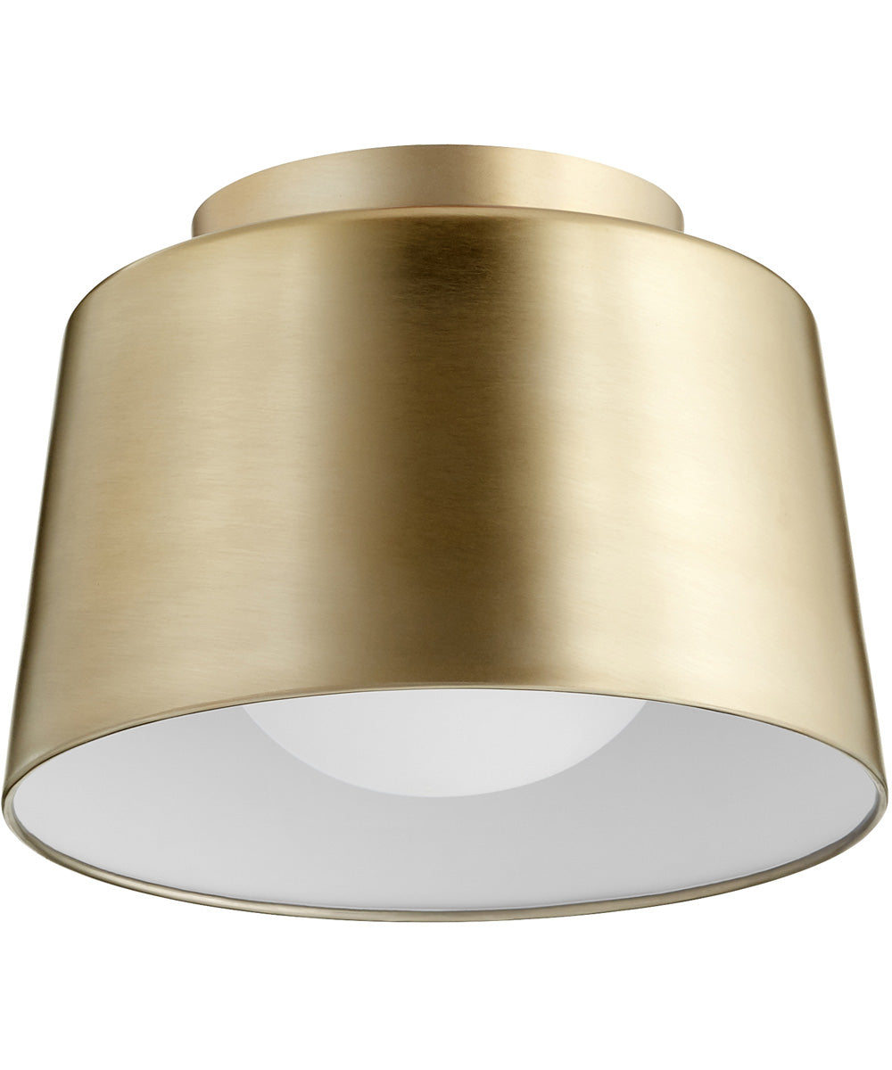 "11""W 1-light Ceiling Flush Mount Aged Brass"