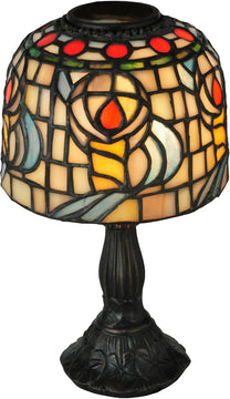 "9""H Tiffany Rosebud Candle Lamp"