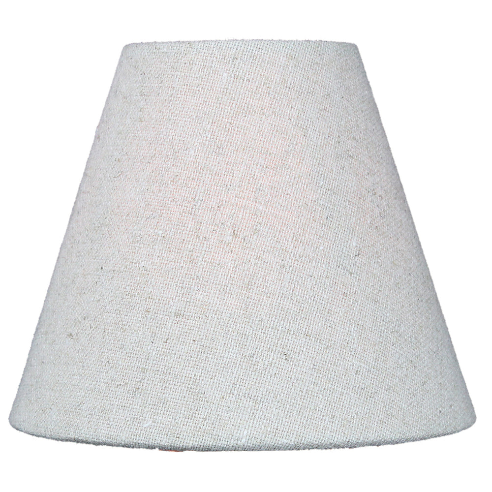 "6""W x 5""H Set of 6 Chandelier Sand Linen Clip-On Lampshade"