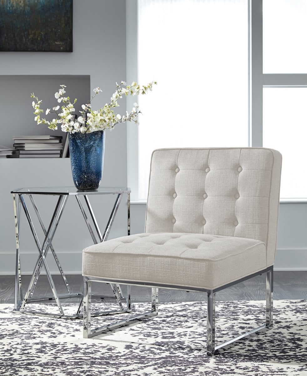 "34""H Cimarosse Accent Chair Ivory"